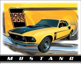 Ford Boss Mustang Car Tin Sign #1241