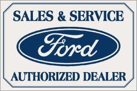 Ford Car Sales And Service Tin Sign #580