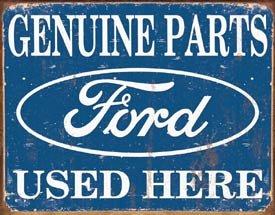 Ford Car Parts Tin Sign #1422