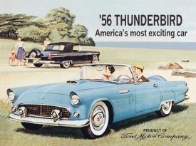 Ford Thunderbird Car Tin Sign #581