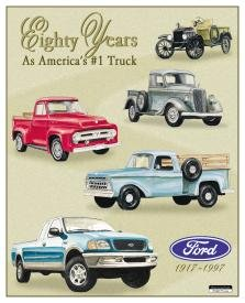 Ford Truck Tribute Tin Sign #712
