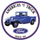 Ford Truck Round Tin Sign #1009