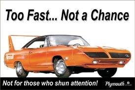 Plymouth Superbird Car Tin Sign #848