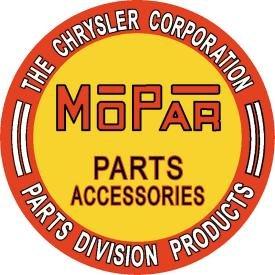 Mopar Parts Round Tin Sign #613