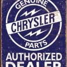 Chrysler Car Parts Tin Sign #1386