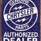 Chrysler Car Parts Tin Sign #1386