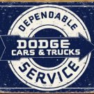 Dodge Car Service Tin Sign #1320