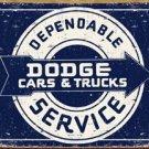 Dodge Car Service Tin Sign #1320