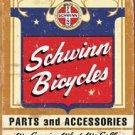Schwinn Bicycle Bike Parts Tin Sign #1382