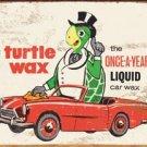 Turtle Wax Car Wax Tin Sign #1493