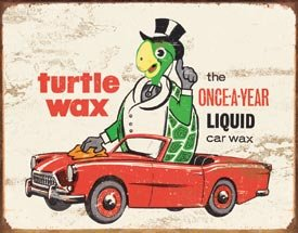 Turtle Wax Car Wax Tin Sign #1493