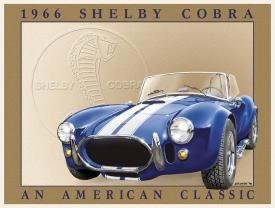 Shelby Cobra Car Tin Sign #801
