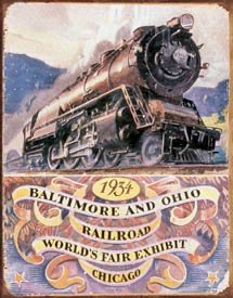 Baltimore And Ohio Train Tin Sign #1447