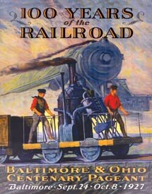 Baltimore And Ohio Train Tin Sign #1446