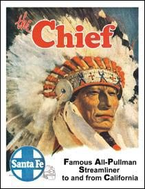 Chief Santa Fe Train Tin Sign #828
