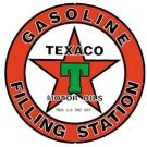 Texaco Gasoline Round Tin Sign #205