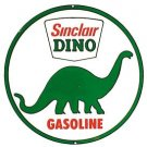 Sinclair Dino Gasoline Round Tin Sign #207