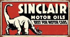 Sinclair Dino Motor Oil Tin Sign #1269