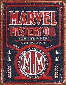 Marvel Mystery Motor Oil Tin Sign #1389