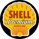 Shell Motor Oil Gasoline Round Tin Sign #612