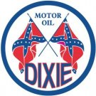 Dixie Motor Oil Round Tin Sign #795