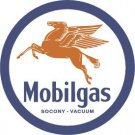 Mobilgas Round Tin Sign #610