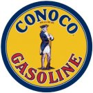 Conoco Gasoline Round Tin Sign #1307