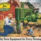 John Deere Tractor Tin Sign #1232
