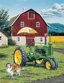 John Deere Tractor Tin Sign #1120