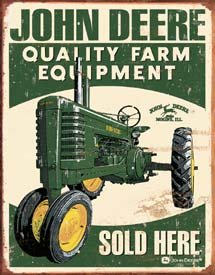 John Deere Tractor Tin Sign #1455