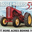 Massey Harris Tractor Tin Sign #1168
