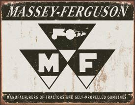 Massey Ferguson Tractor Tin Sign #1504