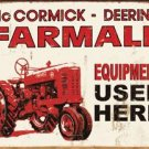 International Harvester Farmall Tractor Tin Sign #1278