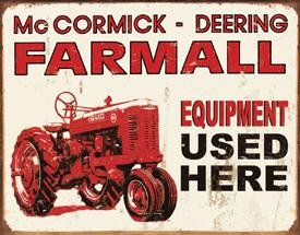 International Harvester Farmall Tractor Tin Sign #1278