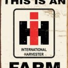 International Harvester Farmall Tractor Tin Sign #1279