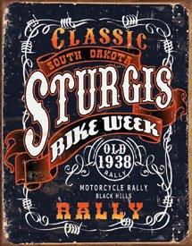 Sturgis Bike Rally Motorcycle Tin Sign #1396