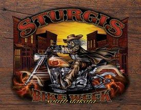 Sturgis Bike Rally Motorcycle Tin Sign #1398