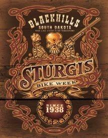 Sturgis Bike Rally Motorcycle Tin Sign #1509