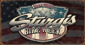 Sturgis Bike Rally Motorcycle Tin Sign #1397