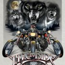 Wolf Pack Live To Ride Motorcycle Tin Sign #1442