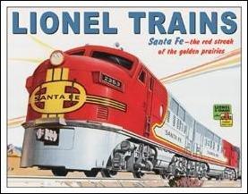 Lionel Train Tin Sign #1126