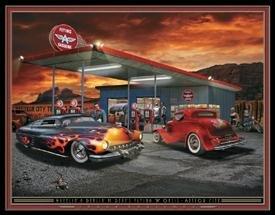 Hot Rod Oasis Tin Sign #1275