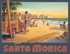 Santa Monica Beach Tin Sign #1267