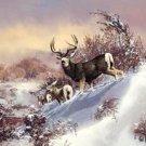 Deer Buck Family Tin Sign #1034