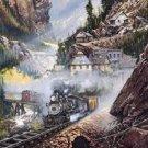 Steam Engine Train Tin Sign #1033