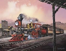 Steam Engine Train Tin Sign #1031