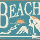 Beach This Way Tin Sign #1176