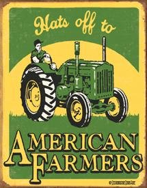 American Farmers Tin Sign #1173