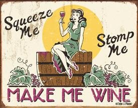 Make Me Wine Tin Sign #1280