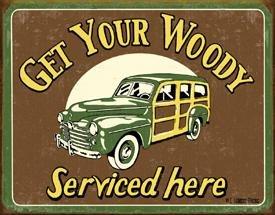 Woody Car Service Tin Sign #1192